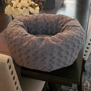 🐶*New* Gray Fluffy Pet Bed🐶